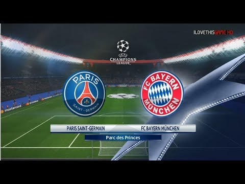 PSG vs Bayern Munchen I Uefa Champions League 2017/18 I Gameplay