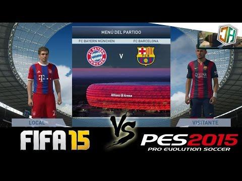 FIFA 15 vs PES 2015 | FC Bayern München – FC Barcelona | con DjMaRiiO | ChorlyiD2