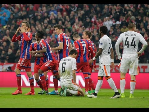 FC Bayern München vs Shakhtar Donetsk 7-0 All Goals & Highlights 2015 UEFA Champions League