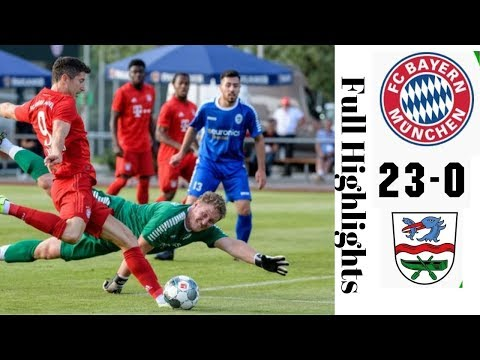 Bayern Munich vs fc Rottach 23-0 all goals highlights 2019 football, soccer, bayern munich