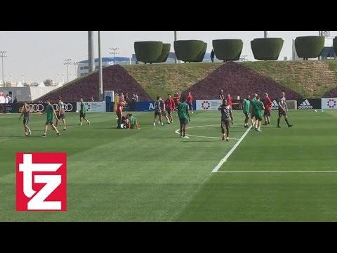 Der FC Bayern im Trainingslager 2017: Schrecksekunde und Lattenschüsse (München/Doha)