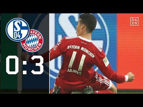 James-Show im Pott: Schalke 04 – FC Bayern München 0:3   Highlights   Bundesliga   DAZN
