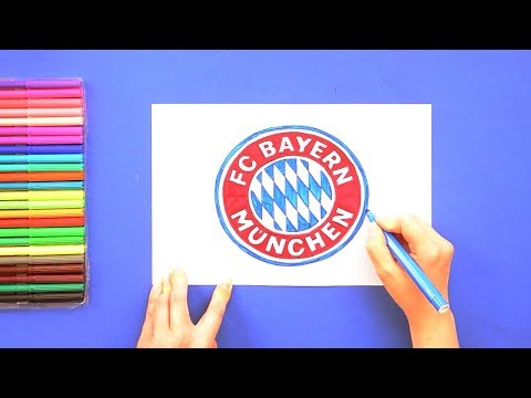 How to draw FC Bayern Munich Logo
