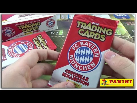 FC Bayern München 10 Booster Unboxing (Trading Card Game) 2016