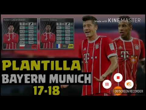 Increíble Super Plantilla FC Bayern Munich 2018/2019 Para Dream League Soccer 2018 Brutal]