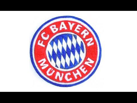 Comment dessiner le logo du Bayern Munich pas à pas (football allemand, FC Bayern München)