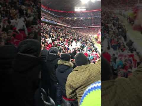FC Bayern München Goal Tor! ゴール後の雰囲気が最高すぎる。バイエルンミュンスター現地観戦!Song schöne Atmosphäre 世界最高峰のブンデスリーガ1部!