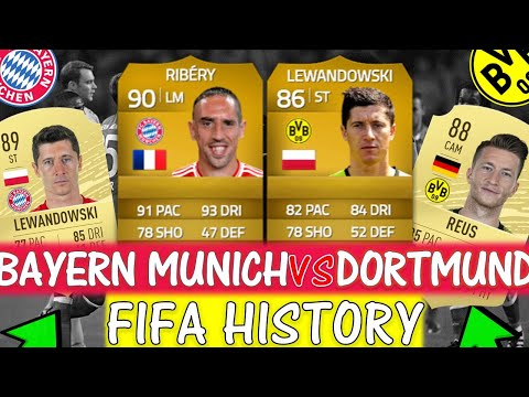 BAYERN MUNICH VS BORUSSIA DORTMUND FIFA ULTIMATE TEAM HISTORY!! FT. LEWANDOWSKI, RIBERY ETC…(FIFA)