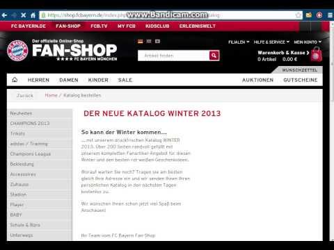 Fc Bayern Müchen Fan Shop Katalog bestellen