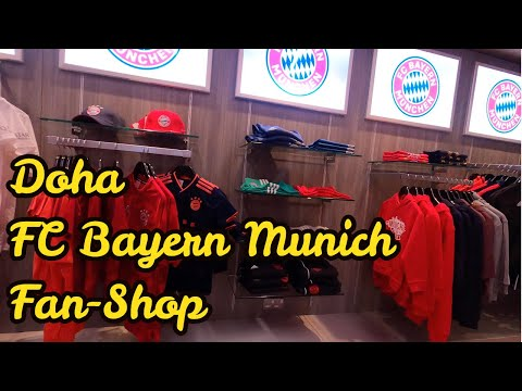 FC Bayern Munich Fan-Shop | Hamad International airport 2019 | 4k