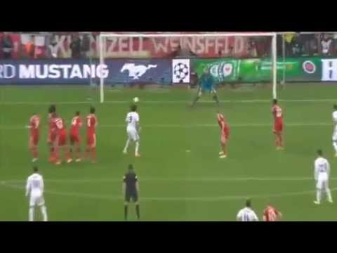 CR7 FANTASTIC FREE KICK ~ Bayern Munich vs Real Madrid 29 04 2014