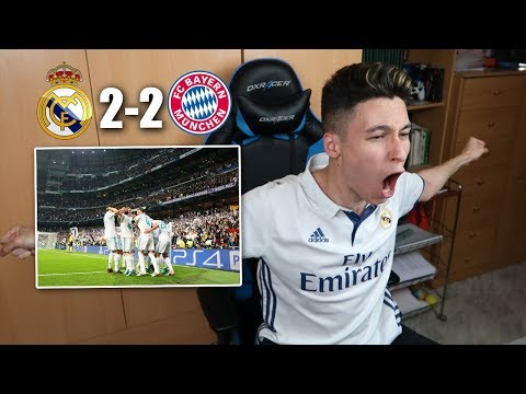 REACCIONES DE UN HINCHA Real Madrid vs Bayern Munich 2-2 SEMIFINAL CHAMPIONS LEAGUE [ByDiegoX10]