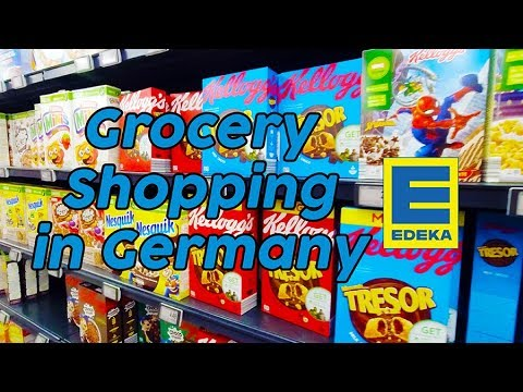 Edeka Munich Airport – German Grocery Shopping – NEW