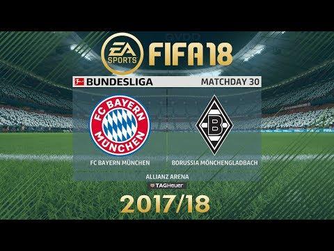 FIFA 18 FC Bayern München vs Borussia Mönchengladbach | Bundesliga 2017/18 | PS4 Full Match