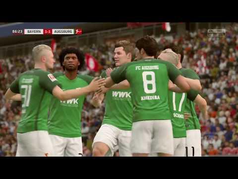 FIFA 18 | FC Bayern Munchen vs FC Augsburg | Bundesliga 2017/18 | Full Gameplay PS4
