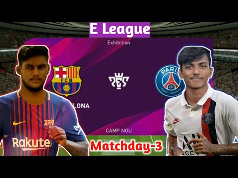 Barcelona vs PSG | E League | Matchday-3, 1 | Pes 2020 Mobile Gameplay | Malayalam Commentary |