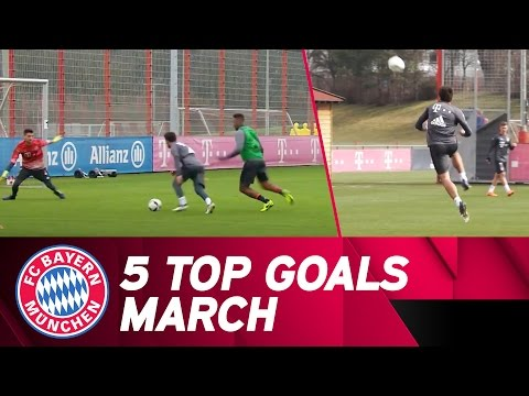 FC Bayern 5 Top Goals | March 2017