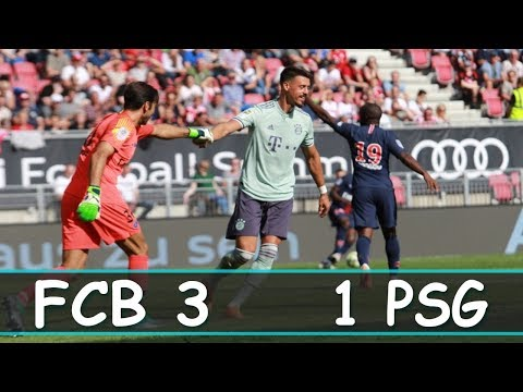 ICC 2018 || Bayern München vs PSG 3 1Full Highlights and goals HD1080P || English Comentary