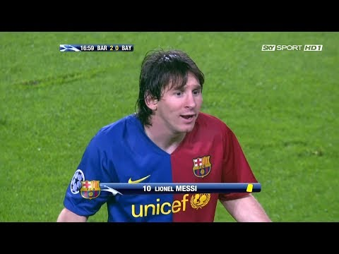 Lionel Messi vs Bayern Munich (UCL) (Home) 2008-09 English Commentary HD 1080i
