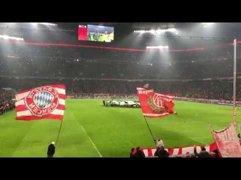 Bayern München – Besiktas Istanbul, Einlaufen, Hymne, Champions League, 2017/18, Achtelfinale