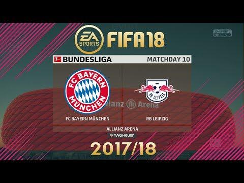 FIFA 18 Bayern München vs RB Leipzig | Bundesliga 2017/18 | PS4 Full Match