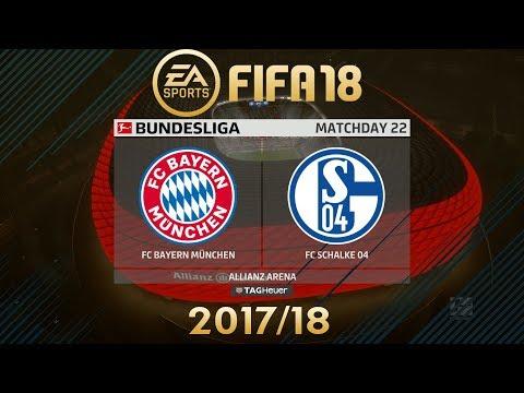 FIFA 18 FC Bayern München vs FC Schalke 04 | Bundesliga 2017/18 | PS4 Full Match