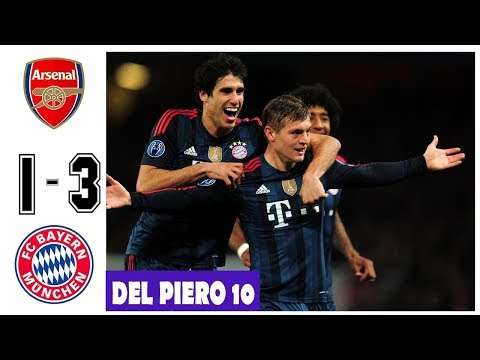Arsenal vs Bayern Munchen 1-3, All Goals and Highlights UCL 2013/2014