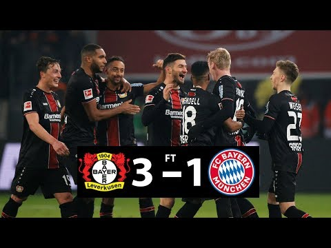 BAYER LEVERKUSEN  3  –  1  BAYERN MUNICH MATCH HIGHLIGHTS
