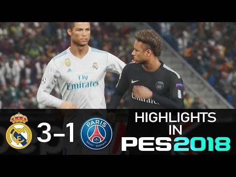 REAL MATCH HIGHLIGHTS IN PES🎮 | Real Madrid vs PSG 3-1⚽