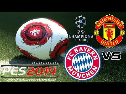 PES 2014 UEFA Champions League FC Bayern München vs Manchester United exibition match