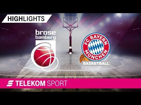 Brose Bamberg – FC Bayern Basketball | 13. Spieltag, 18/19 | Telekom Sport