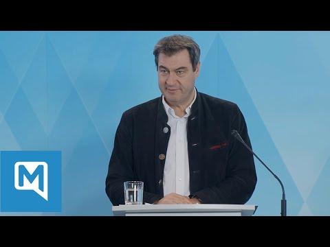 Coronavirus in Bayern Pressekonferenz:  Markus Söder über weitere Maßnahmen zu Covid-19 nach Ostern