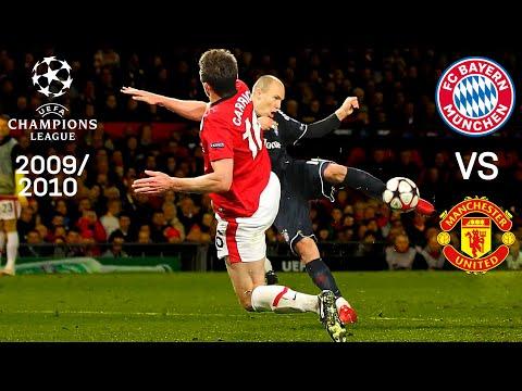 Arjen Robben's sensational volley goal vs. Manchester United | 1st and 2nd Leg Highlights 2009/10