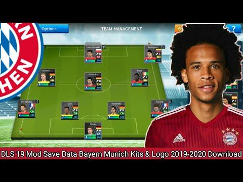 DLS 19 Mod Save Data Bayern Munich Kits & Logo 2019-2020 Download Leroy Sané To Bayern Munich