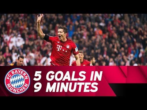 5 Goals in 9 Minutes – Lewandowski Show vs. VfL Wolfsburg | 2015/16 Season