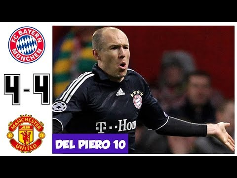 Bayern Munich vs Manchester United 4-4, Quarter Final UCL 2010 – All Goals and Highlights