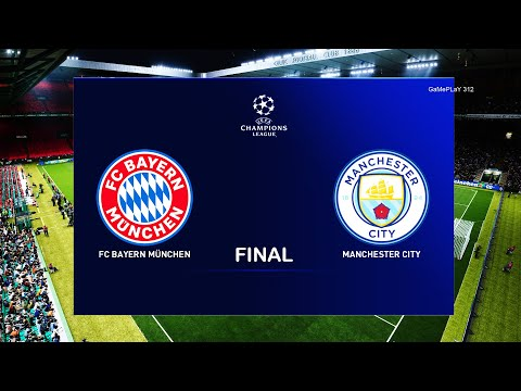 PES 2020 – Bayern Munich vs Manchester City – UEFA Champions League Final UCL Gameplay 20/21 Season