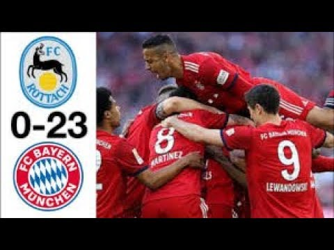 Bayern vs Rottach 23-0 Extended Highlights & Goals 2019